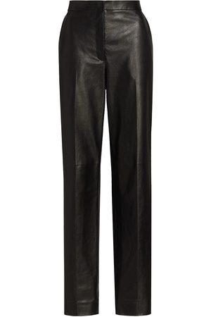 The Row Straight-Leg Leather Pants