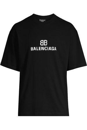 Balenciaga Logo Monogram Cotton T-Shirt
