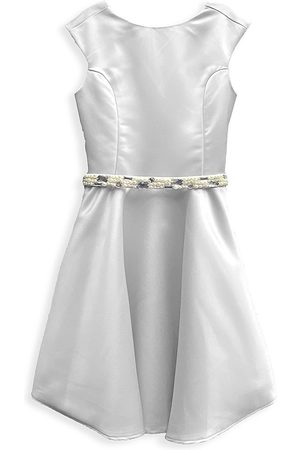 Un Deux Trois Girl's Embellished Satin Dress