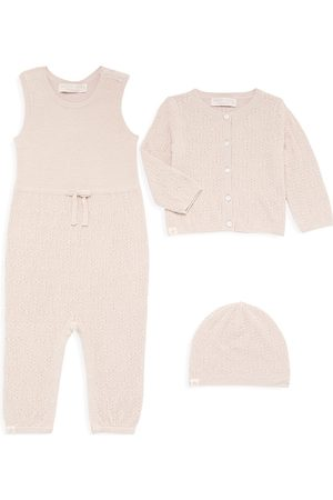 Barefoot Dreams Baby Girl's Three-Piece Leaf Cable Bundle