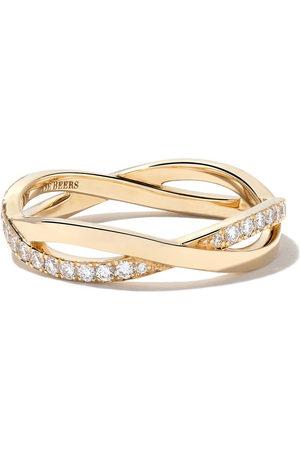 De Beers Jewellers 18kt Infinity half pave diamond band