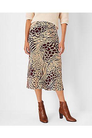 Ann Taylor Petite Mixed Animal Print Slip Skirt