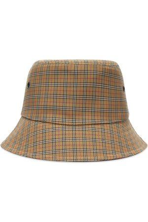 Burberry Men Hats - Micro Check Bucket Hat
