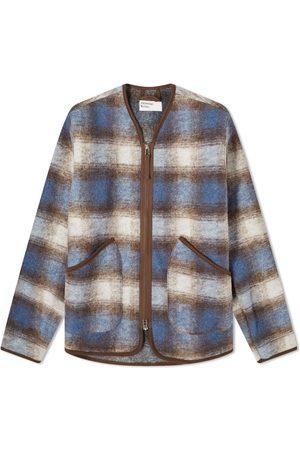 Universal Works Wool Fleece Check Zip Liner Jacket