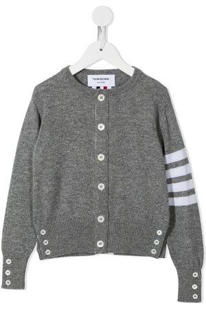 Thom Browne 4-Bar crew neck cashmere cardigan - Grey