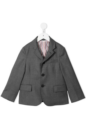 Thom Browne Kids Super 120s twill blazer - Grey