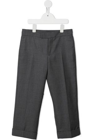 Thom Browne Kids Super 120s twill tailored trousers - Grey