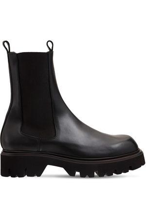 MATTIA CAPEZZANI Beatles Leather Chelsea Boots
