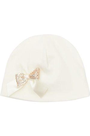 La Perla Cotton Hat W/ Bow Appliqué