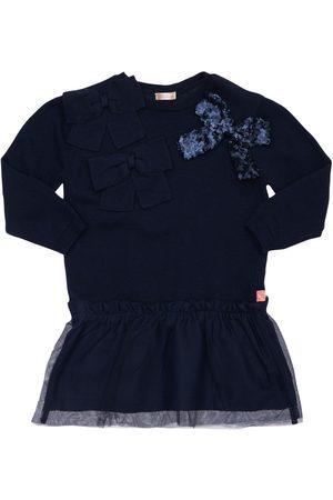 BILLIEBLUSH Cotton Blend & Glitter Tulle Dress