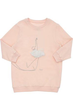 IL GUFO Dancer Embroidery Cotton Sweat Dress