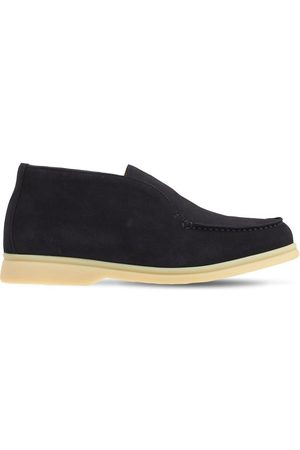 LORO PIANA Boys Ankle Boots - Suede Slip-on Ankle Boots