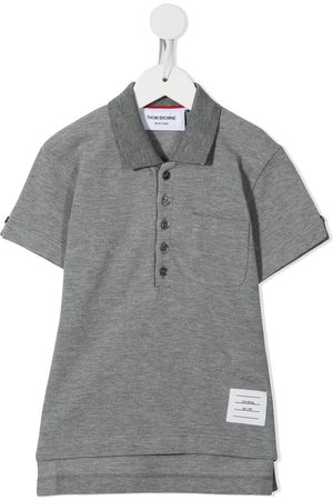 Thom Browne Kids Classic short sleeve polo shirt - Grey