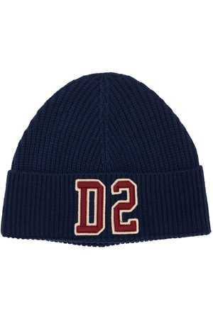 Dsquared2 Embroidered Logo Wool Blend Beanie