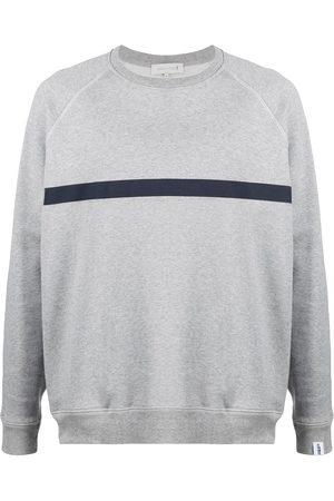 MACKINTOSH Horizontal-stripe crew-neck sweatshirt - Grey