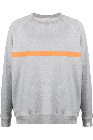 MACKINTOSH Men Sweatshirts - Horizontal-stripe crew-neck sweatshirt - Grey
