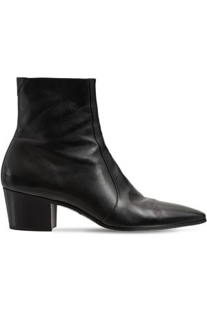Saint Laurent Vassili 60 Leather Boots