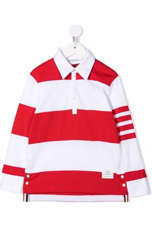 Thom Browne 4-Bar stripe polo shirt