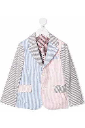 Thom Browne Multi-stripe seersucker sport coat - Grey