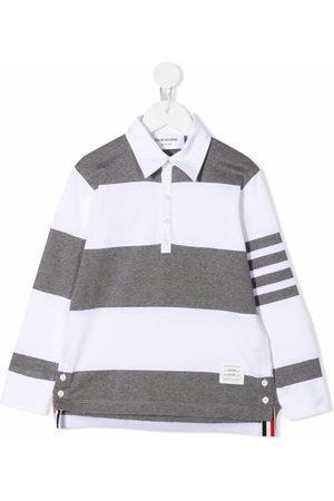 Thom Browne Rugby stripe 4-Bar polo shirt