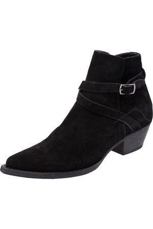 Saint Laurent Suede Blake Jodhpur Ankle Boots Size 43.5
