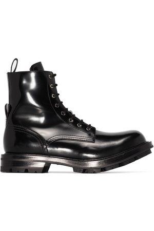 Alexander McQueen Worker lace-up boots