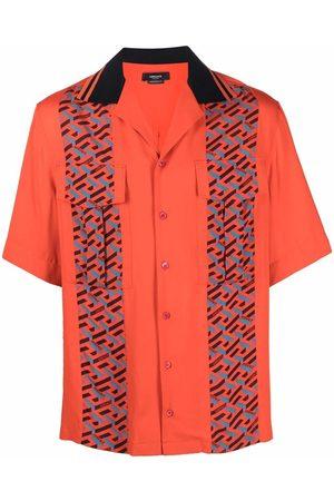 VERSACE Men Shirts - Monogram stripes shirt
