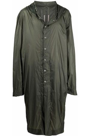 Rick Owens Men Parkas - Single-breasted parka coat