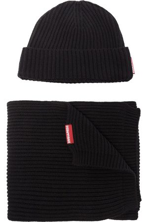 Dsquared2 Knitted beanie hat and scarf set