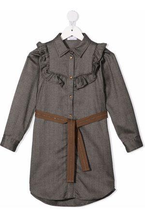 Brunello Cucinelli Ruffle-trim denim dress