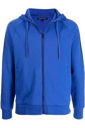 Michael Kors Blocked-Logo zip-up hoodie