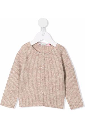 BONPOINT Tassia ribbed-knit cardigan - Neutrals