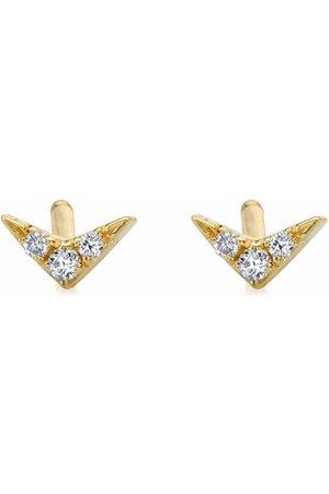 Lizzie Mandler 18kt yellow V diamond stud earring