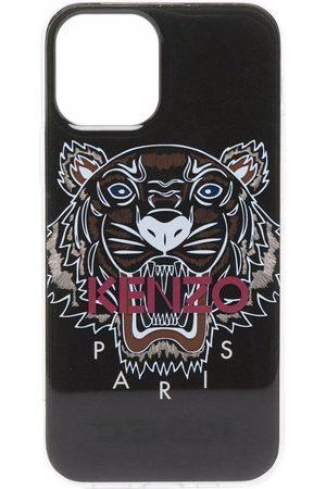 Kenzo Men Phones Cases - Tiger logo-print iPhone 11 Pro case