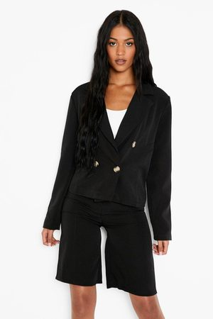 Boohoo Womens Tall Tailored Crop Blazer - - 2