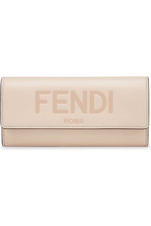 Fendi Logo-debossed Continental wallet - Neutrals