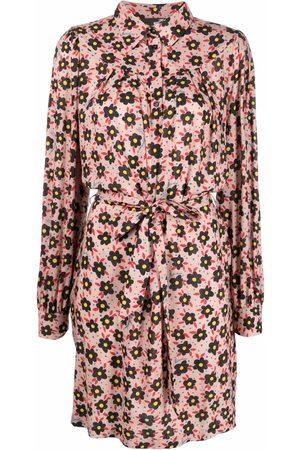 Love Moschino Women Printed Dresses - Floral-print shirt dress