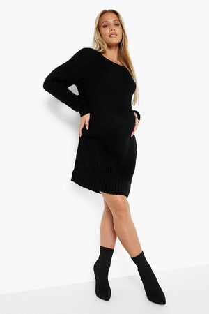 Boohoo Womens Maternity Crew Neck Sweater Dress - - S