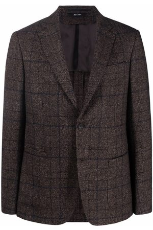Z Zegna Plaid-check print blazer