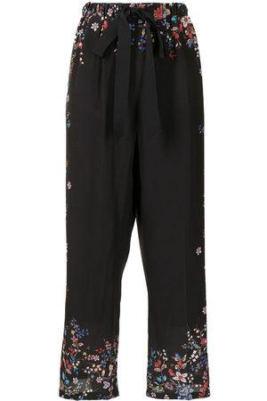 Erdem High-waisted floral-print silk pants