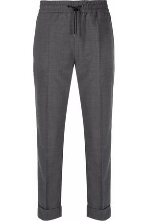 Moncler Women Chinos - Lightweight cropped chino trousers - Grey