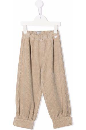 Il Gufo Straight-leg corduroy trousers - Neutrals