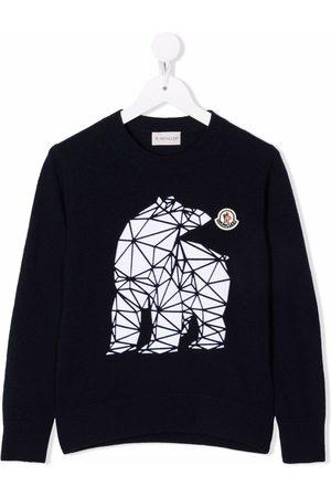 Moncler Enfant Graphic-print wool jumper