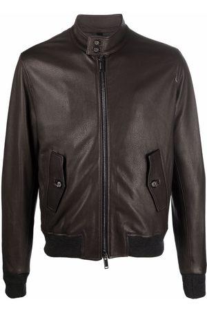 Tagliatore Grained lamb skin jacket