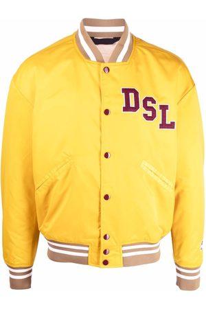 Diesel Chenille logo-patch bomber jacket
