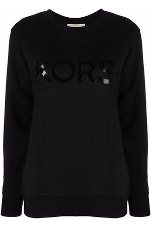 Michael Kors Women Sweatshirts - Logo-print crew neck sweatshirt