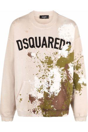Dsquared2 Logo-print long-sleeve sweatshirt - Neutrals