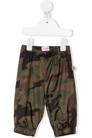 Il Gufo Camouflage-print elasticated trousers