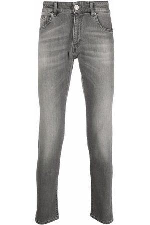 Pt01 Low-rise stonewashed skinny jeans - Grey