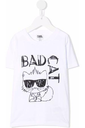 Karl Lagerfeld Kids Bad Cat short-sleeve T-shirt